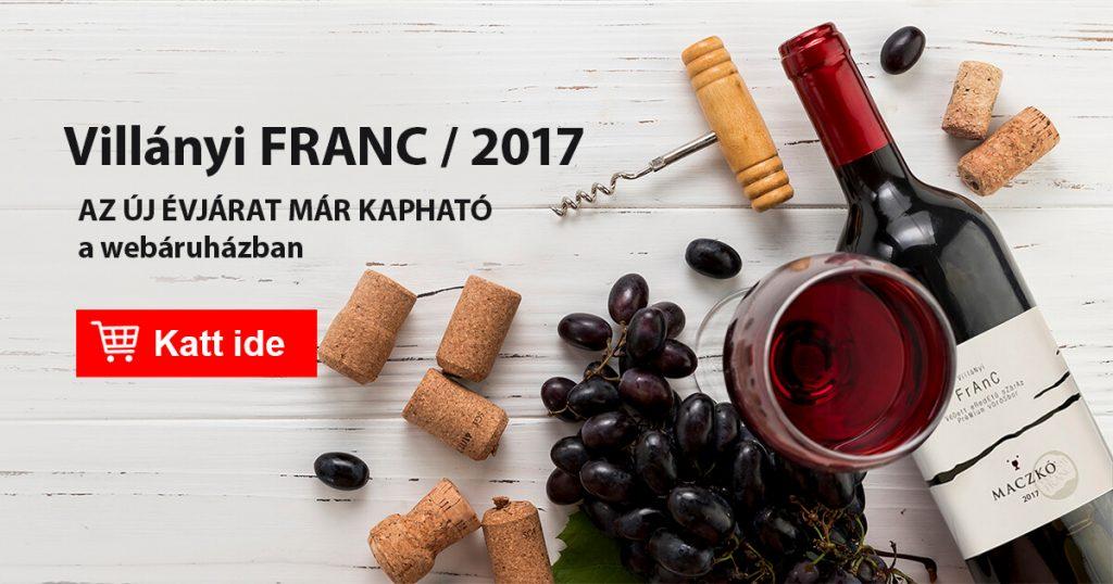 Mától újra kapható a Villányi FRANC 2017