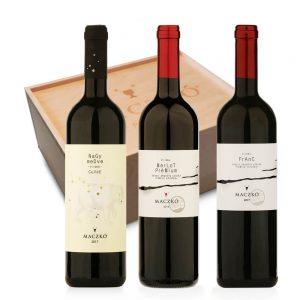 Nagy vörösbor válogatás fadobozban